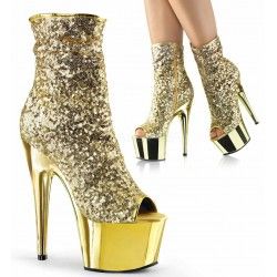 Gold Sequin Adore Platform Ankle Boots Mild to Wild Womens Shoes  Shoes for Women from Flats to Extreme High Heels & Platforms