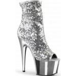 Silver Sequin Adore Platform Ankle Boots at Mild to Wild Shoes,  Shoes for Women from Flats to Extreme High Heels & Platforms