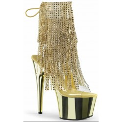 Gold Rhinestone Fringe Platform Ankle Boot Mild to Wild Womens Shoes  Shoes for Women from Flats to Extreme High Heels & Platforms