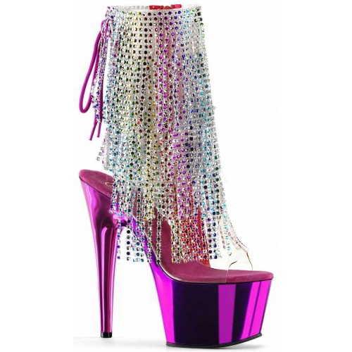 Hot Pink Rhinestone Fringe Platform Ankle Boot at Mild to Wild Shoes,  Shoes for Women from Flats to Extreme High Heels & Platforms