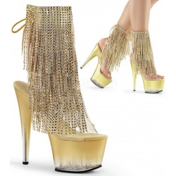 Gold Rhinestone Fringe 7 Inch Heel Ankle Boot Mild to Wild Womens Shoes  Shoes for Women from Flats to Extreme High Heels & Platforms