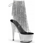 Silver Rhinestone Fringe 7 Inch Heel Ankle Boot at Mild to Wild Shoes,  Shoes for Women from Flats to Extreme High Heels & Platforms