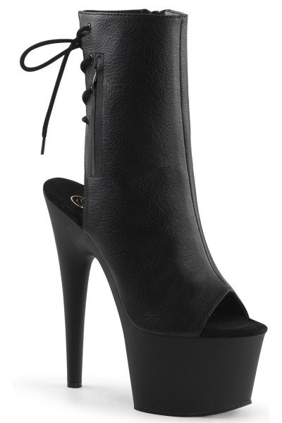 Black Peep Toe and Heel Platform Ankle Boot at Mild to Wild Womens Shoes,  Shoes for Women from Flats to Extreme High Heels & Platforms
