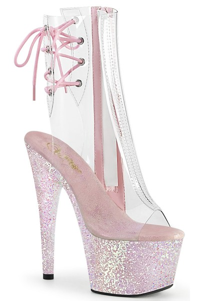 Holographic Glitter Clear Platform Adore Ankle Boot at Mild to Wild Womens Shoes,  Shoes for Women from Flats to Extreme High Heels & Platforms