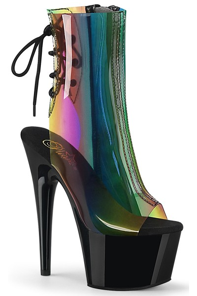 Rainbow Black Platform Ankle Boot at Mild to Wild Womens Shoes,  Shoes for Women from Flats to Extreme High Heels & Platforms