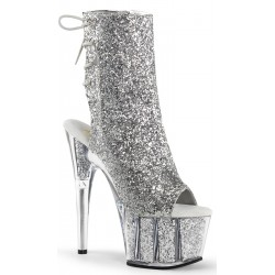 Silver Glittered Platform Ankle Boot Mild to Wild Womens Shoes  Shoes for Women from Flats to Extreme High Heels & Platforms