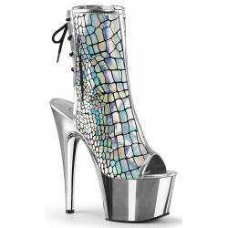 Hologram Chrome Platform Ankle Boot Mild to Wild Womens Shoes  Shoes for Women from Flats to Extreme High Heels & Platforms