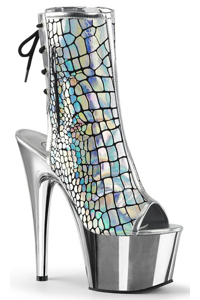 Hologram Chrome Platform Ankle Boot at Mild to Wild Womens Shoes,  Shoes for Women from Flats to Extreme High Heels & Platforms