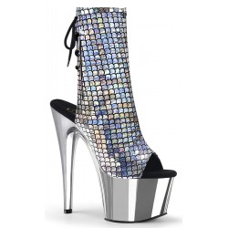 Mermaid Silver Hologram Ankle Boot Mild to Wild Womens Shoes  Shoes for Women from Flats to Extreme High Heels & Platforms