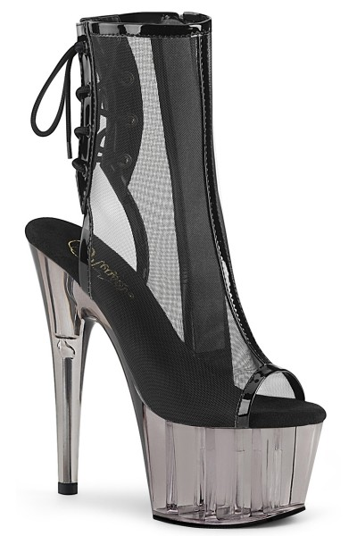 Black Mesh Adore-1018 High Heel Ankle Boot at Mild to Wild Womens Shoes,  Shoes for Women from Flats to Extreme High Heels & Platforms