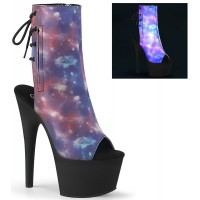 Galaxy Reflective Print Ankle Boot