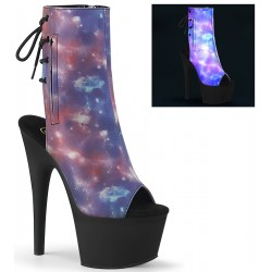 Galaxy Reflective Print Ankle Boot Mild to Wild Womens Shoes  Shoes for Women from Flats to Extreme High Heels & Platforms