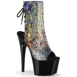 Metallic Snake Print Ankle Boot Mild to Wild Womens Shoes  Shoes for Women from Flats to Extreme High Heels & Platforms
