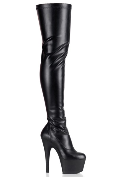Adore Black Matte Thigh High Platform Boot at Mild to Wild Womens Shoes,  Shoes for Women from Flats to Extreme High Heels & Platforms