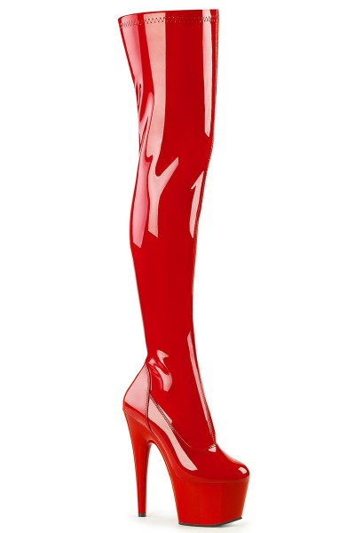 Adore Red Thigh High Platform Boot at Mild to Wild Womens Shoes,  Shoes for Women from Flats to Extreme High Heels & Platforms