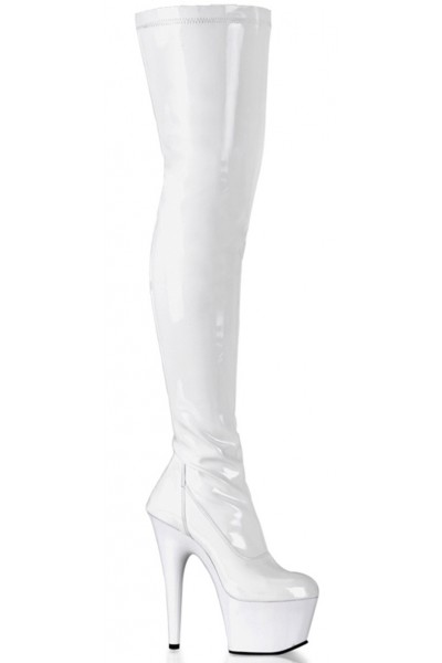 Adore White Thigh High Platform Boot at Mild to Wild Womens Shoes,  Shoes for Women from Flats to Extreme High Heels & Platforms