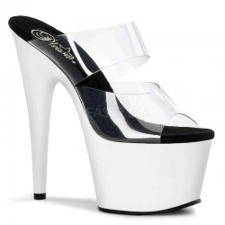 White Platform Adore High Heel Slides Mild to Wild Womens Shoes  Shoes for Women from Flats to Extreme High Heels & Platforms