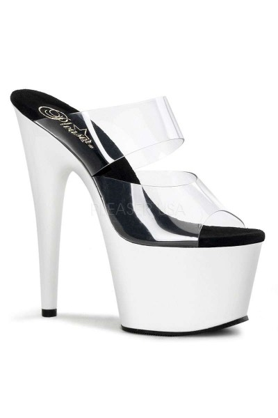 White Platform Adore High Heel Slides at Mild to Wild Womens Shoes,  Shoes for Women from Flats to Extreme High Heels & Platforms
