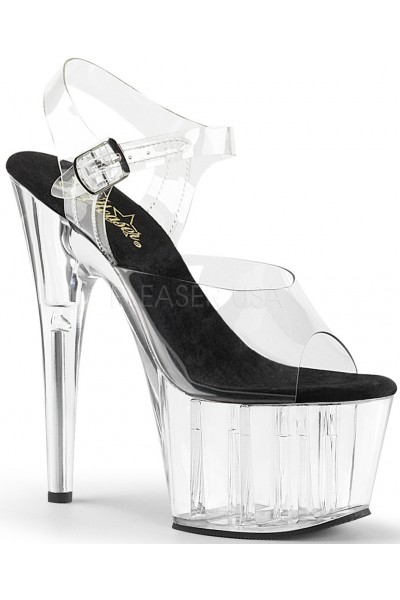 Clear Platform Clear Strap Platform Sandal at Mild to Wild Womens Shoes,  Shoes for Women from Flats to Extreme High Heels & Platforms