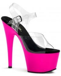 Neon Pink Platform Adore High Heel Sandals