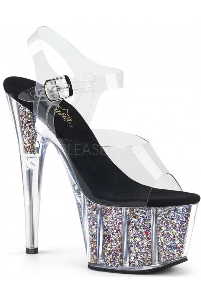 Confetti Filled Clear Platform Adore Sandals at Mild to Wild Womens Shoes,  Shoes for Women from Flats to Extreme High Heels & Platforms