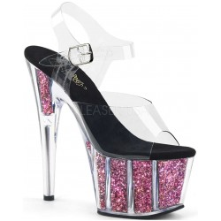 Pink Confetti Filled Clear Platform Adore Sandals Mild to Wild Womens Shoes  Shoes for Women from Flats to Extreme High Heels & Platforms