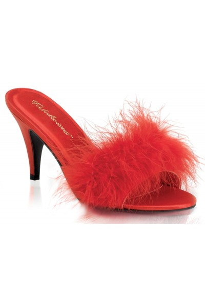 Amour Red Maribou Trimmed Slipper at Mild to Wild Womens Shoes,  Shoes for Women from Flats to Extreme High Heels & Platforms