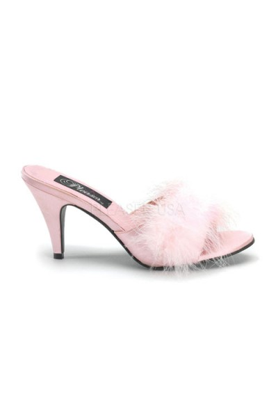 Amour Baby Pink Maribou Trimmed Slipper at Mild to Wild Womens Shoes,  Shoes for Women from Flats to Extreme High Heels & Platforms