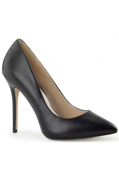 Amuse Black Faux Leather 5 Inch High Heel Pump at Mild to Wild Womens Shoes,  Shoes for Women from Flats to Extreme High Heels & Platforms