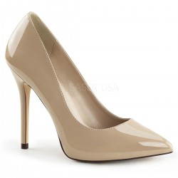 Amuse Cream 5 Inch High Heel Pump Mild to Wild Shoes  Shoes for Women from Flats to Extreme High Heels & Platforms
