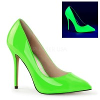 Amuse Neon Green 5 Inch High Heel Pump