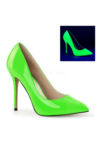 Amuse Neon Green 5 Inch High Heel Pump at Mild to Wild Womens Shoes,  Shoes for Women from Flats to Extreme High Heels & Platforms