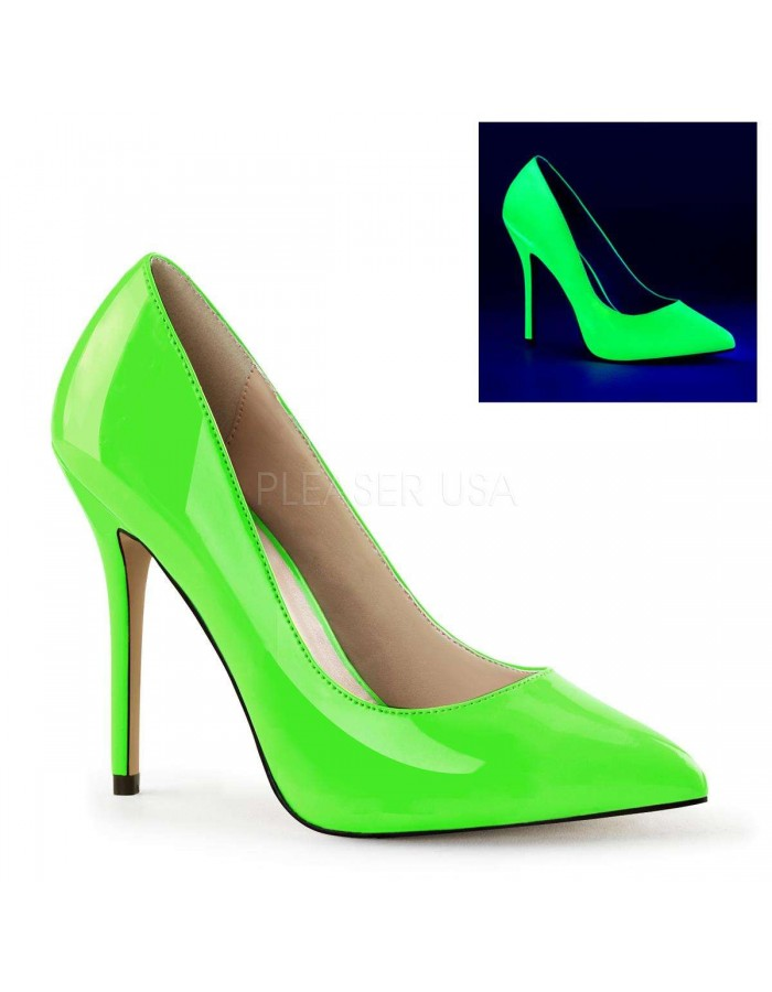 Amuse Neon Green 5 Inch High Heel Pump