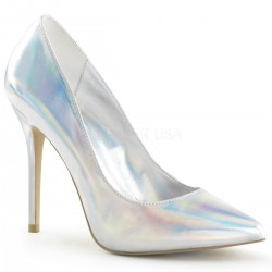 Amuse Silver Hologram 5 Inch High Heel Pump Mild to Wild Womens Shoes  Shoes for Women from Flats to Extreme High Heels & Platforms