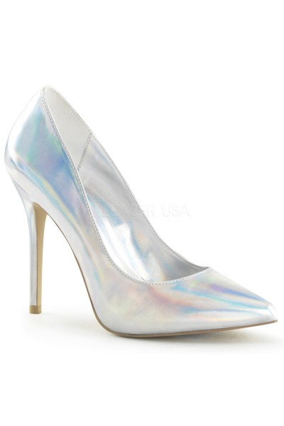 Amuse Silver Hologram 5 Inch High Heel Pump at Mild to Wild Womens Shoes,  Shoes for Women from Flats to Extreme High Heels & Platforms