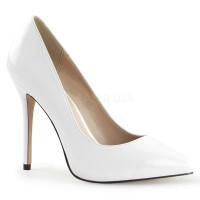 Amuse White 5 Inch High Heel Pump