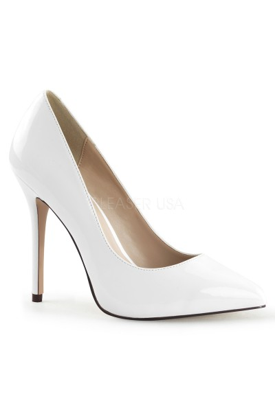 Amuse White 5 Inch High Heel Pump at Mild to Wild Womens Shoes,  Shoes for Women from Flats to Extreme High Heels & Platforms