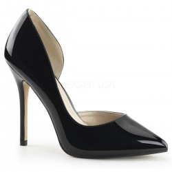 Amuse Black 5 Inch High Open Side Pump Mild to Wild Shoes  Shoes for Women from Flats to Extreme High Heels & Platforms