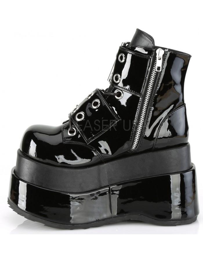 314fd333aea Bear Black Platform Ankle Boots for Women - Gothic Platform Boots