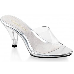 Belle Clear Peep Toe Slide Mild to Wild Womens Shoes  Shoes for Women from Flats to Extreme High Heels & Platforms