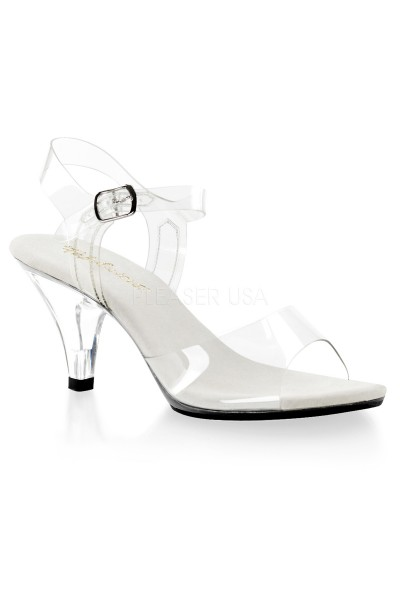 Belle Clear Peep Toe Sandal at Mild to Wild Womens Shoes,  Shoes for Women from Flats to Extreme High Heels & Platforms