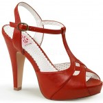 Red Bettie-23 Peep Toe Vintage T-Strap Sandals at Mild to Wild Shoes,  Shoes for Women from Flats to Extreme High Heels & Platforms