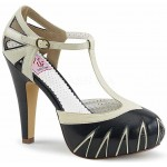 Cream and Black T-Stap Vintage Womens Sandals at Mild to Wild Shoes,  Shoes for Women from Flats to Extreme High Heels & Platforms