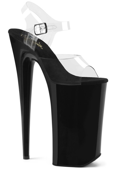 Beyond Extreme Black 10 Inch High Sandal at Mild to Wild Womens Shoes,  Shoes for Women from Flats to Extreme High Heels & Platforms
