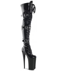 Beyond 10 Inch Buckled Thigh High Boots