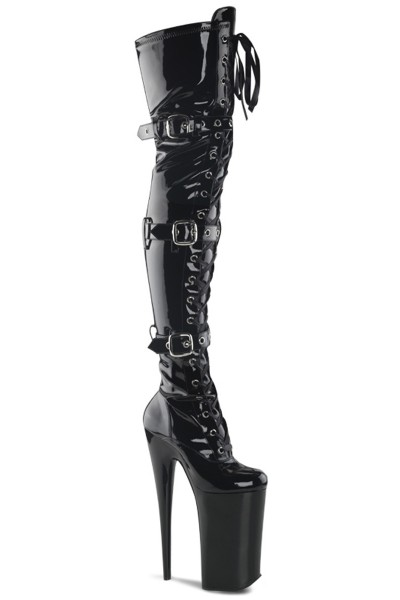 Beyond 10 Inch Buckled Thigh High Boots at Mild to Wild Womens Shoes,  Shoes for Women from Flats to Extreme High Heels & Platforms