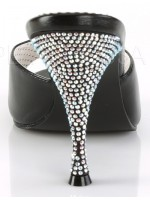 Monroe Rhinestone Heeled Black Slides at Mild to Wild Womens Shoes,  Shoes for Women from Flats to Extreme High Heels & Platforms