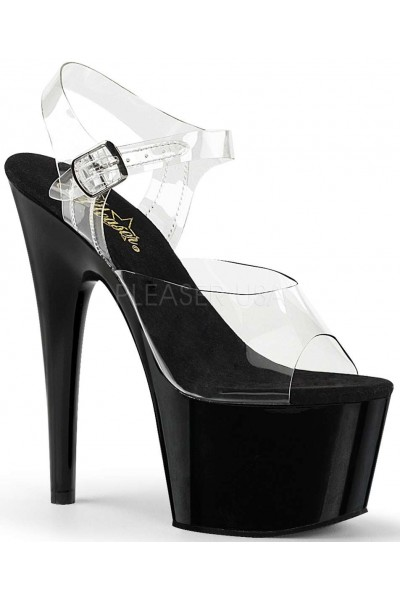 Black Platform Clear Strap Platform Sandal at Mild to Wild Womens Shoes,  Shoes for Women from Flats to Extreme High Heels & Platforms
