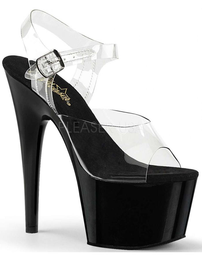 cc2c68fba78e Black Platform Clear Strap Platform Sandal at Mild to Wild Womens Shoes