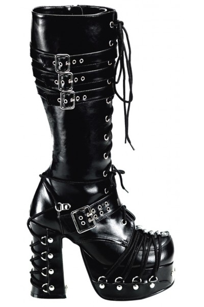 All Tied Up Charade Gothic Knee Boots at Mild to Wild Womens Shoes,  Shoes for Women from Flats to Extreme High Heels & Platforms